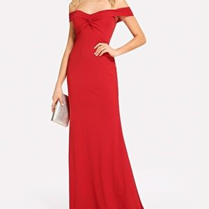 57733ca794 SHEIN · Off the shoulder twist front dress